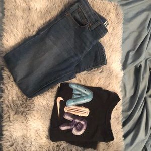 Boys Size 6 Outfit. Jeans and Nike T shirt $10
